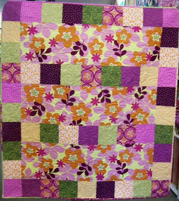 Beginner Quilt Pattern, Quick, Easy and Fun Lap throw pattern
