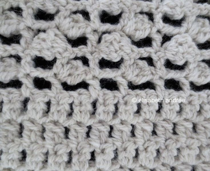 Crochet Stitch Open : stitch pattern: open work with clusters Crochet Pinterest