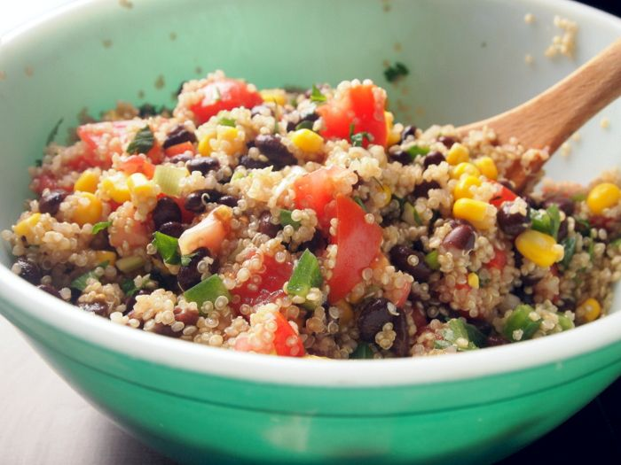 quinoa, corn and black bean salad | Chef in me | Pinterest