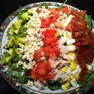 Cobb Salad On a bed of fresh spinach tossed with your favorite ...