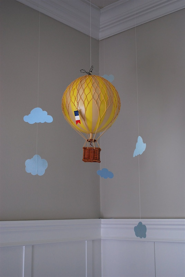 hot air balloon mobile baby dahl pinterest