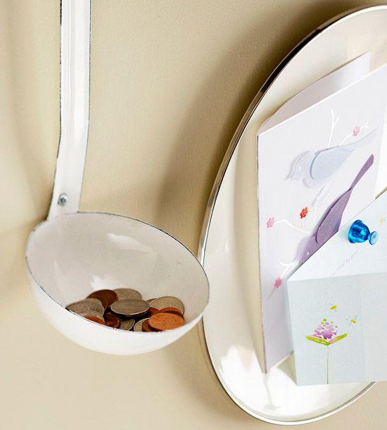 Old ladle for change or key holder
