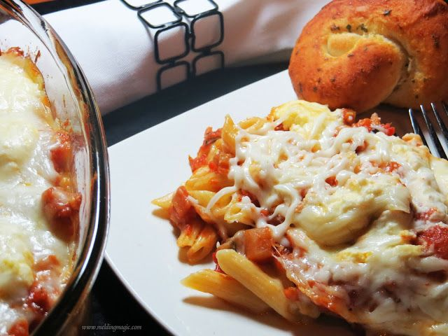 Melding Magic: Baked Ziti with Eggplant and Ricotta Cheese