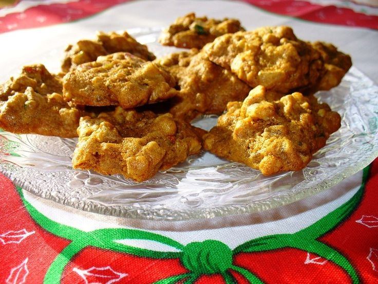munchy spice cookie with loads of nuts. Mixed candied fruit adds the ...