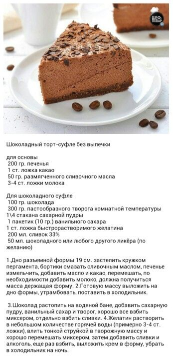 Пирожное без выпекания рецепт