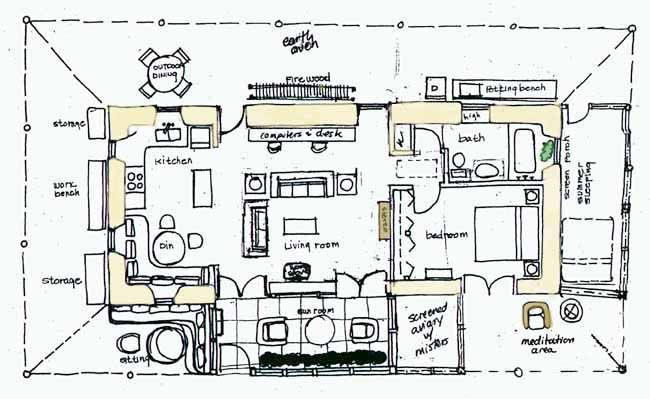 Straw Floor Plan Straw Bale Houses Pinterest