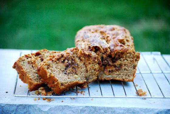 Peanut Butter and Biscoff Swirled Banana Bread | Beautiful Disasters