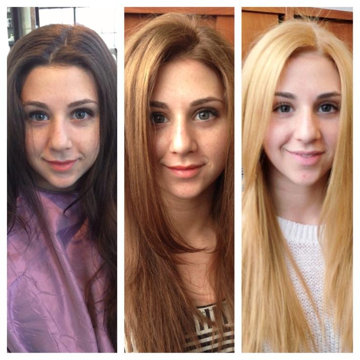 Как черные волосы покрасить в русый цвет волос