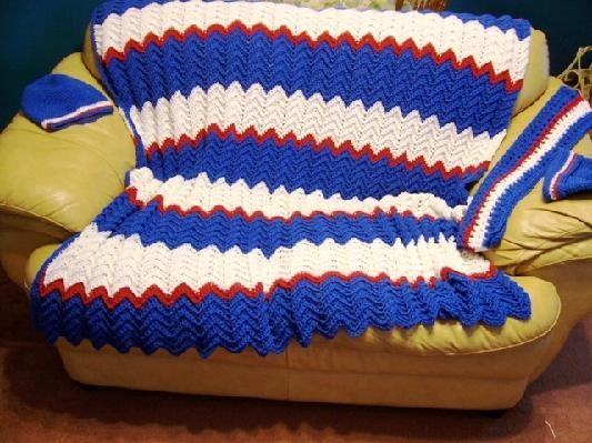 Ny Giants Crochet Afghan Pattern : Pin by Karen Ross Mantica on DIY & Crafts Pinterest