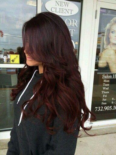 Окрашивание темных волос в красный цвет