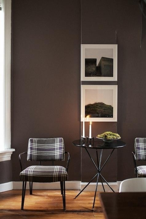 Plaid Accented Living Room Chairs Sala Living Room Pinterest