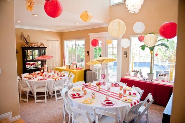 Indoor summer here we come graduation weddings more for Indoor birthday decoration ideas