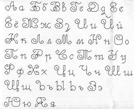Шрифты для схем вышивки крестом 963