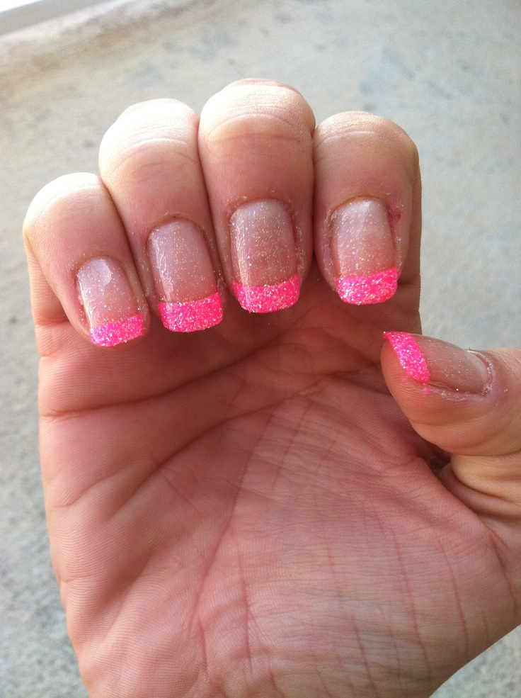 Pink French tip nails | Formal | Pinterest