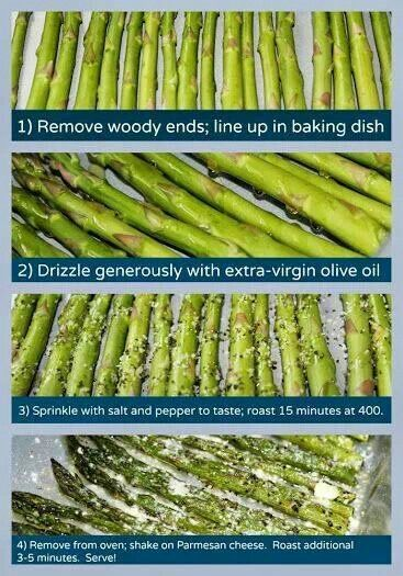 Parmesan crusted oven roasted asparagus | Side dishes | Pinterest