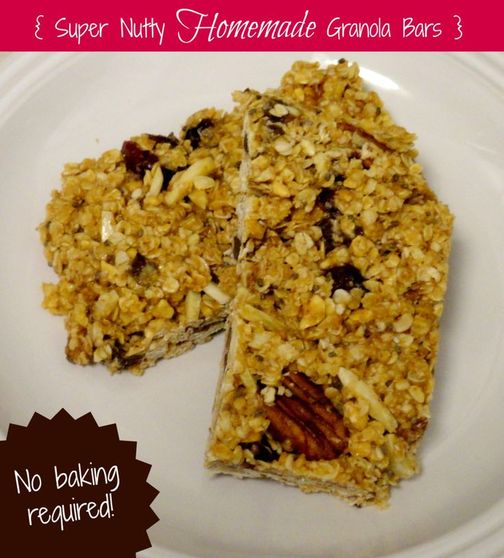 Super Nutty Homemade Granola Bars | Healthy Munchies | Pinterest