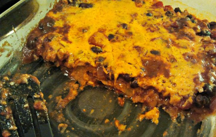 Mushroom And Black Bean Tortilla Casserole Recipe — Dishmaps