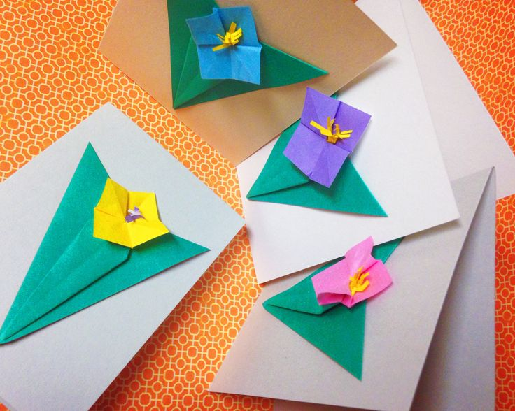 origami cards for valentine's day