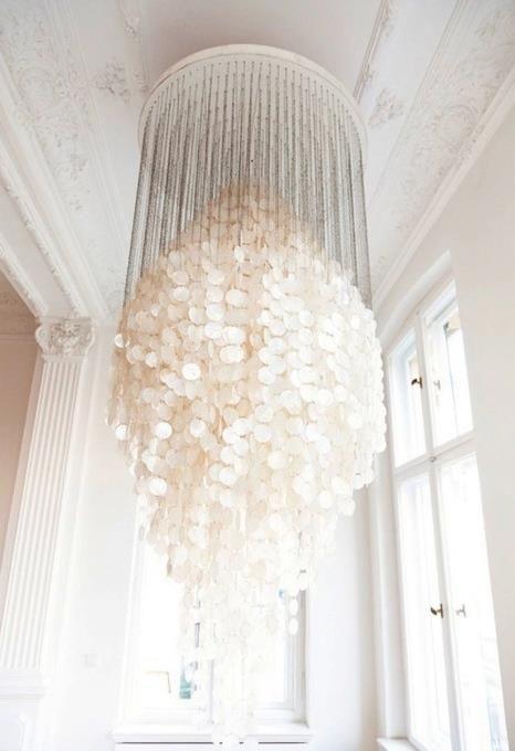 cream #verner #panton #capiz #ceiling #light #ANGELIKA #TASCHEN IN ...
