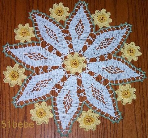 Free Daffodil Doily Crochet Pattern : Daffodil Doily crochet Pinterest