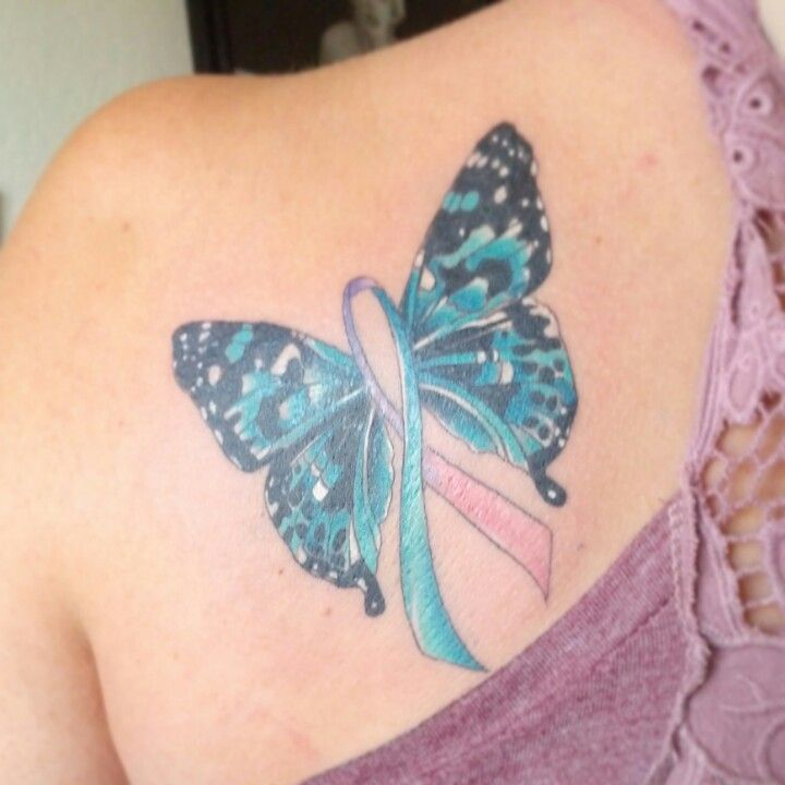 pin thyroid cancer ribbon tattoo on pinterest