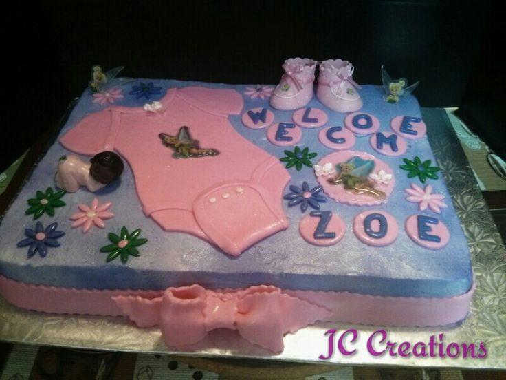 tinkerbell baby shower cake