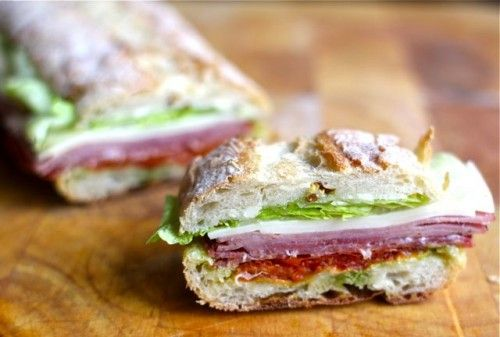 Pressed Sandwiches, Italian-style.