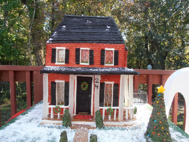 quot brick colonial house quot gingerbread house pinterest