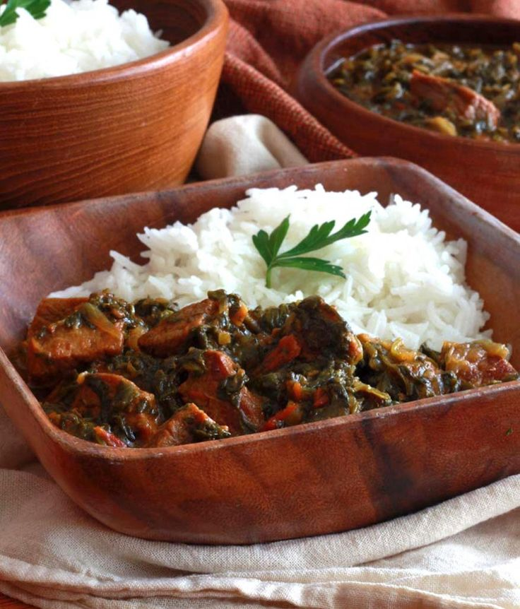 Indian Beef & Spinach Curry (Saag Gosht). daringgourmet.com