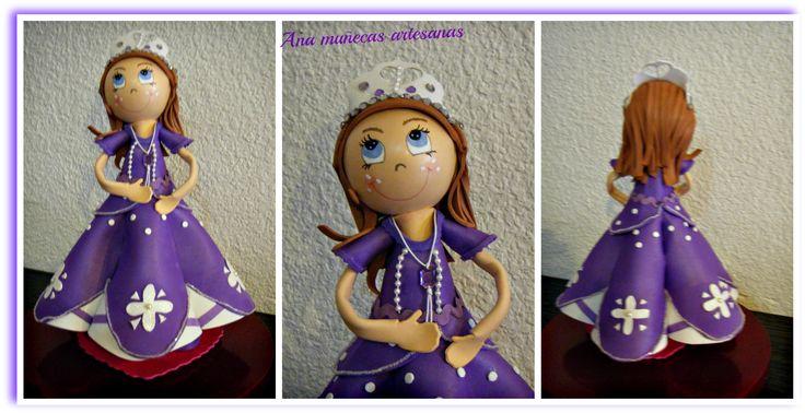 Moldes fofucha princesa sofia - Imagui