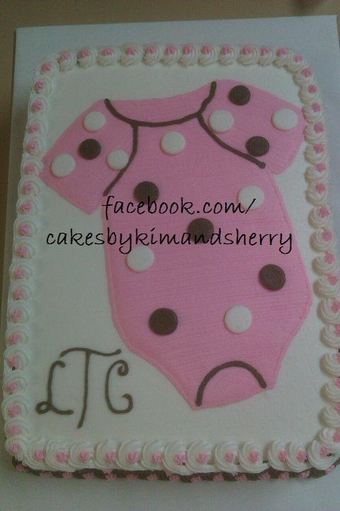Onesie baby shower sheet cake Cake Decorating Pinterest