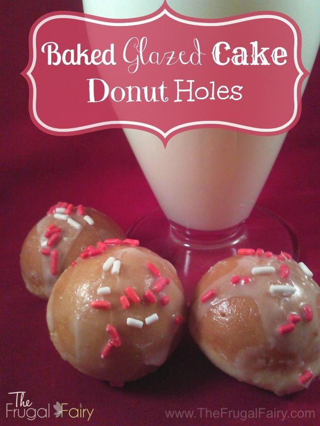 Baked Glazed Cake Donut Holes {Recipe} | mmmm.... | Pinterest
