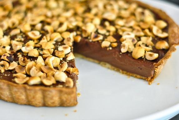 Chocolate Hazelnut Tart | Comida y bebida | Pinterest