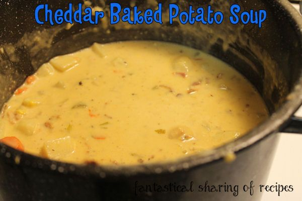Cheddar Baked Potato Soup - amping up boring potato soup with cheese ...