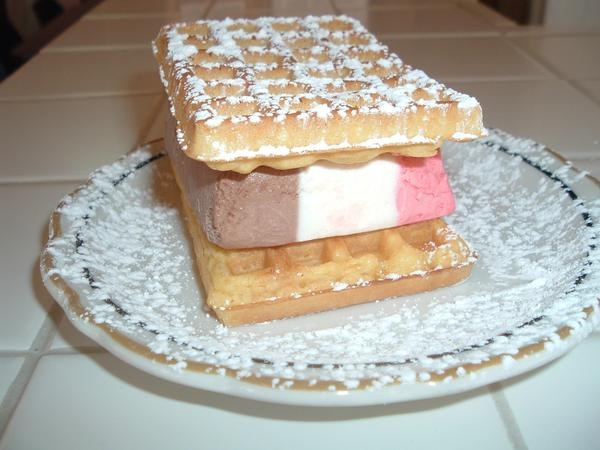 Ice Cream Waffle Sandwich | Awesome Sauce | Pinterest