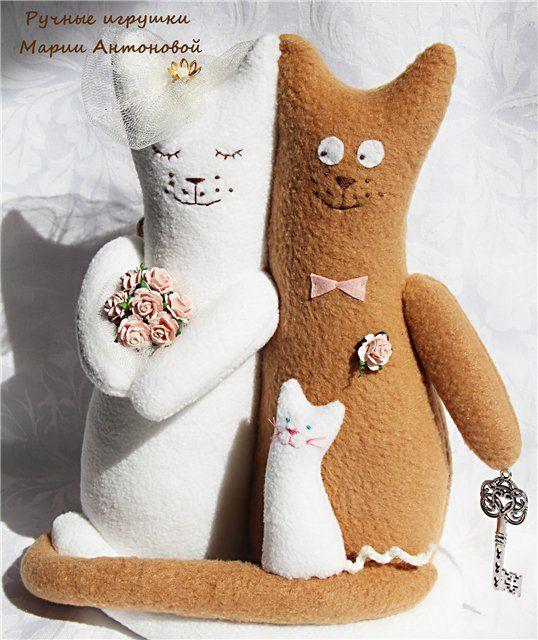 Кукла тильда коты обнимашки 183
