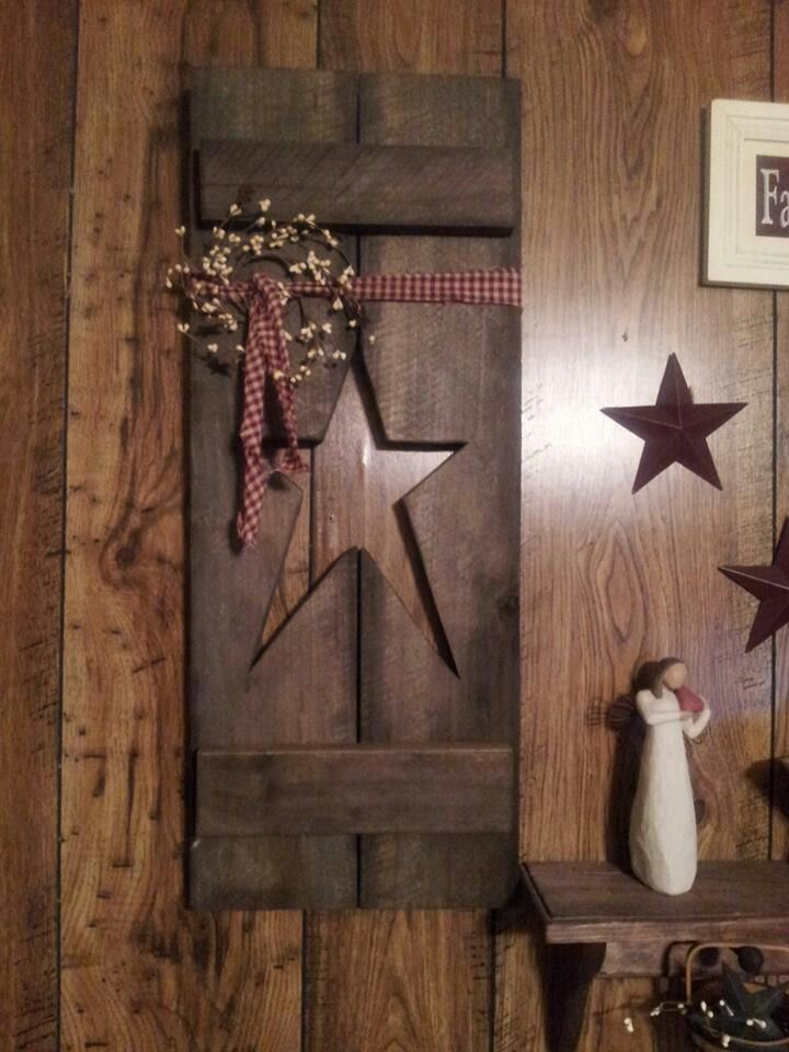 Pinterest Primitive Shutter Crafts