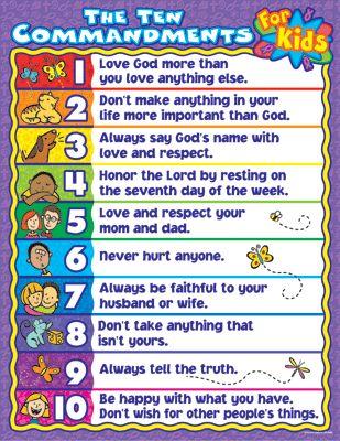 The Ten Commandments for Kids-simple