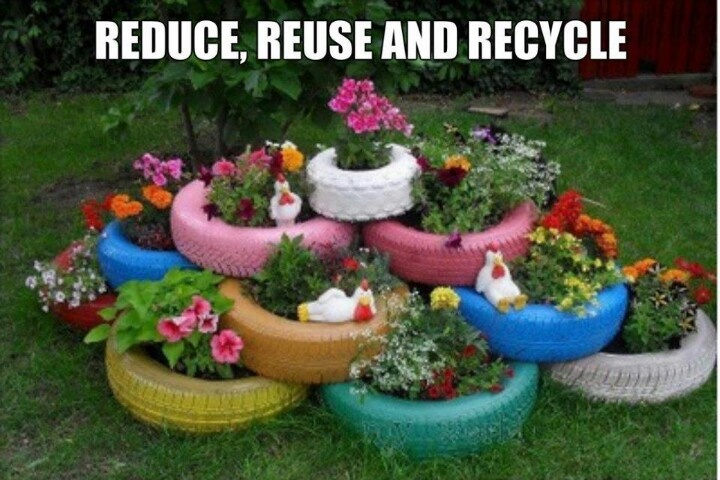 What to do with old tires love it home and garden - What to do with used tires ...