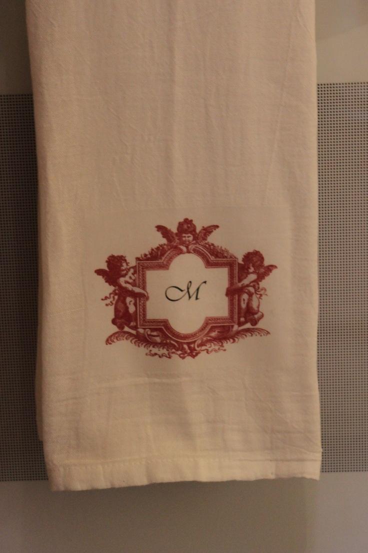 valentine's day tea towels