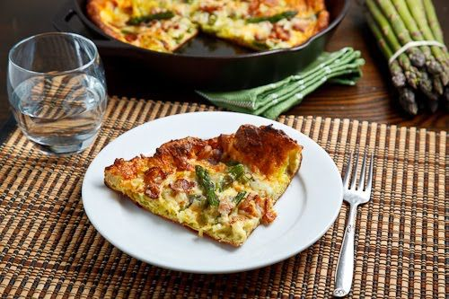 Asparagus and Double Smoked Bacon Popover | Recipe