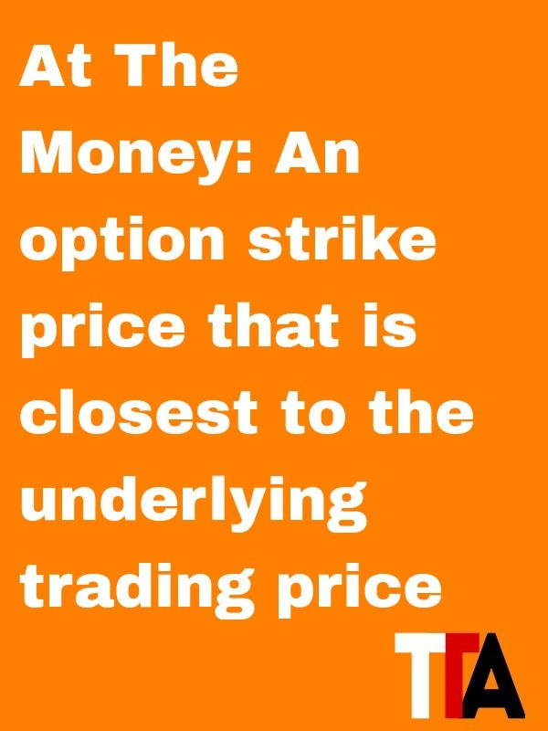 Option trading terms