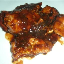 Barbecue Cola Chicken on BigOven: Tender barbeque chicken in thick ...