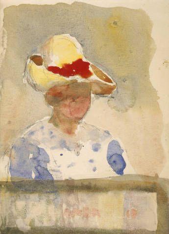 Georgia O'Keeffe, Untitled (Figure)1905/06