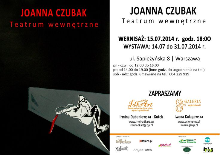 Joanna Czubak - Teatrum wewnętrzne