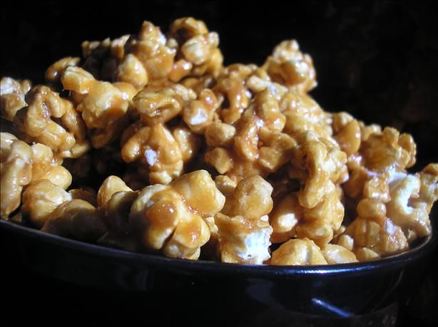 Microwave Caramel Corn from Food.com:   This is a great recipe for caramel corn.  It is quick and easy.  The corn turns out soooo good!  I always make it for gifts at Christmas. It is from the Joy of Microwaving Cookbook.  (The peanuts are optional and I have never added them).
