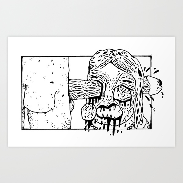 Morning, sweetie. Art Print by WASTED RITA | Society6