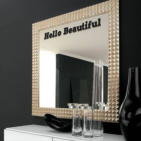 Brilliant Hello Gorgeous Decal Bathroom Mirror Decoration Vinyl Lettering For