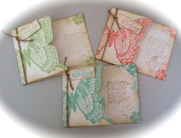 Stampin Up Butterfly cards, Sooo pretty!
