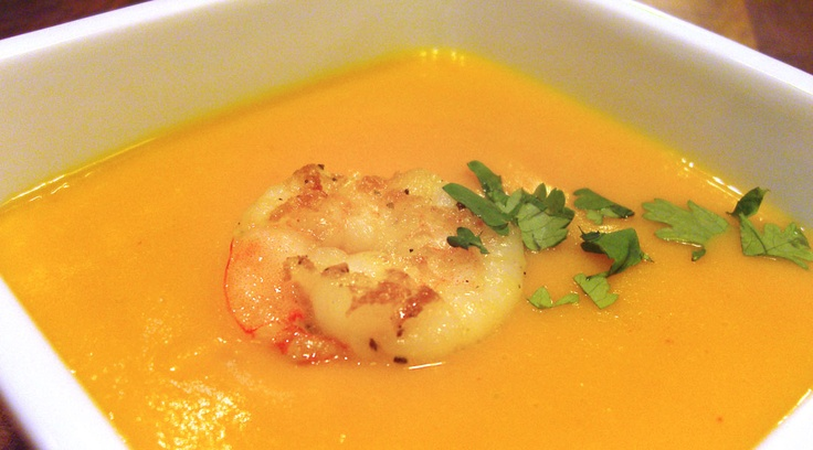 Paleo Coconut Curried Butternut Squash Soup. Since I don't do seafood ...